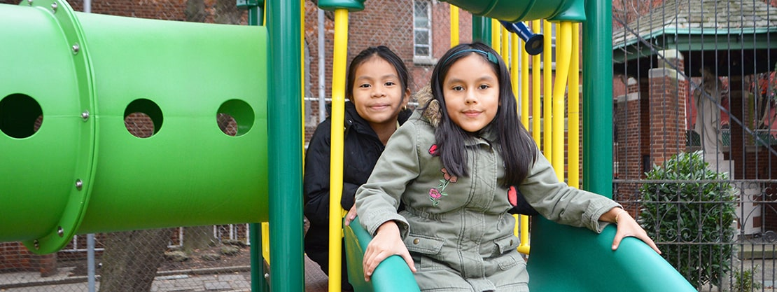 St. Brigid St. Frances Cabrini students on playground